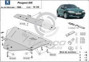 Scut motor metalic Peugeot 406