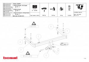 Carlig remorcare Audi A4