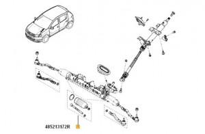 Corp bieleta Dacia Dokker/ Dacia Lodgy/ Dacia Logan/ Dacia Sandero