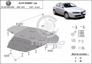 Scut motor metalic Alfa Romeo 159