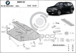 Scut motor metalic BMW X3 E83