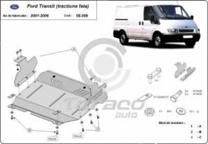 Scut motor metalic Ford Transit tractiune fata
