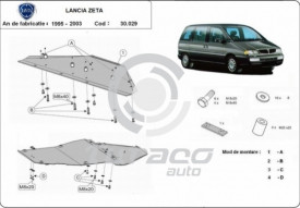 Scut motor metalic Lancia Zeta