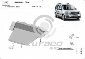 Scut motor metalic Mercedes Citan