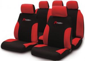 Set huse scaune Puma negru-rosu