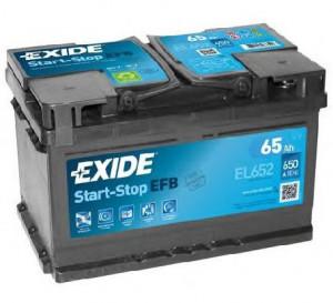 Baterie auto EXIDE EFB 65Ah