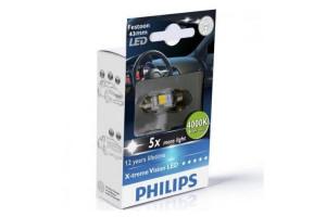 Bec cu LED SV8,5 12V 1W 11/43mm