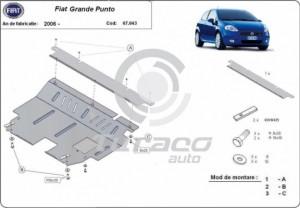 Scut motor metalic Fiat Grande Punto