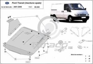 Scut motor metalic Ford Transit tractiune spate