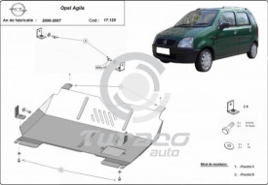 Scut motor metalic Opel Agila (H00)