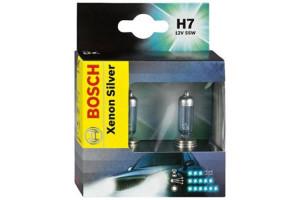 Set 2 becuri H7 Xenon Silver