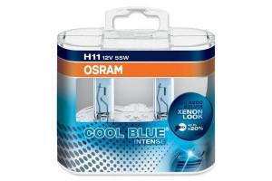 Set de 2 becuri H11 12V 55W PGJ19-2 COOL BLUE INTENSE