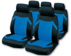 Set huse scaun negru-albastru