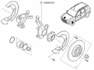 Portfuzeta stanga Dacia Duster cu ABS