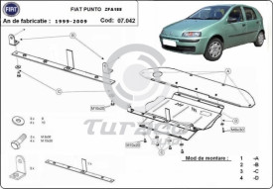 Scut motor metalic Fiat Punto