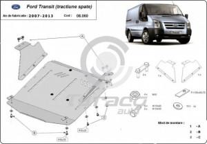 Scut motor metalic Ford Transit (tractiune spate)