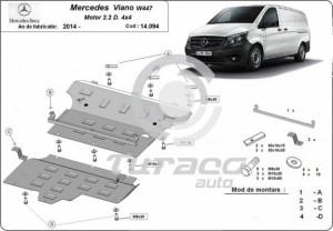 Scut motor metalic Mercedes Viano W447