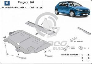 Scut motor metalic Peugeot 206