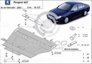 Scut motor metalic Peugeot 607
