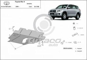 Scut motor metalic Toyota RAV 4, motorizare benzina
