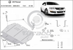 Scut motor metalic Volkswagen Passat