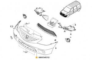 Bara fata Dacia Logan MCV/ Dacia Logan Van/ Dacia Logan Pick Up