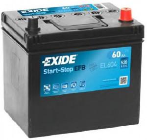 Baterie auto EXIDE EFB 60 Ah
