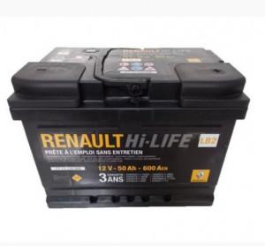 Baterie auto RENAULT 12V 50Ah 600A