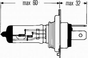 Bec H4 60/55W 12V HELLA