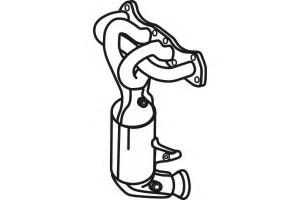 Catalizator Citroen C4 2008-2011