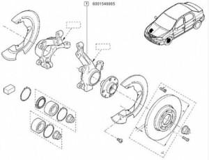 Portfuzeta stanga Dacia Logan/ Dacia Sandero cu ABS