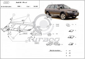 Scut motor metalic Audi Allroad
