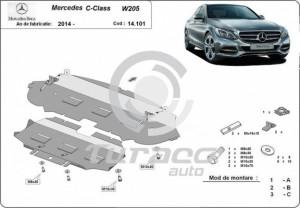 Scut motor metalic Mercedes C-Class W205