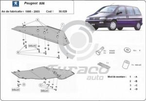 Scut motor metalic Peugeot 806