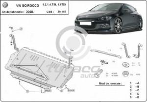Scut motor metalic Volkswagen Scirocco