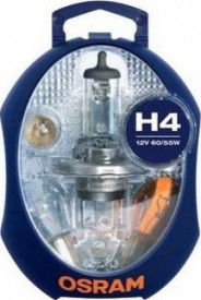 Set becuri H4 P43t 12V (H4, P21W, PY21W, P1/5W, R5W, W5W, 3 sig.)