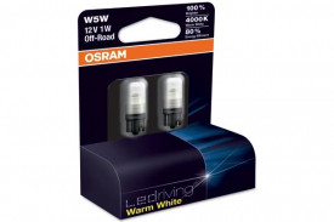 Set de 2 becuri cu LED W5W 12V 1W W2,1x9,5d WARM WHITE