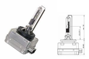 Bec Xenon D1R 12/24V 35W Pk32d-3