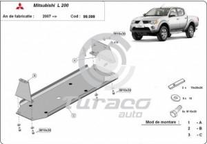 Scut metalic rezervor Mitsubishi L