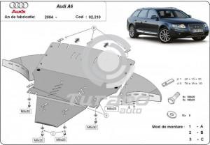 Scut motor metalic cu laterale Audi Allroad II