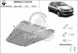Scut motor metalic Renault Clio 3