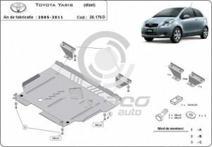 Scut motor metalic Toyota Yaris, motorizare diesel