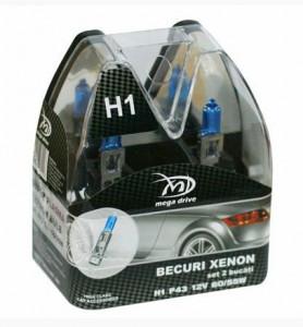 Set 2 becuri H1 12V 55W P43 XENON