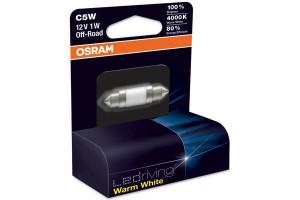 Bec cu LED SV8,5 12V 1W 11/35mm C5W WARM WHITE