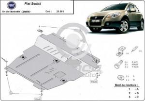 Scut motor metalic Fiat Sedici