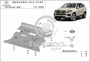 Scut motor metalic Mercedes GLE X166