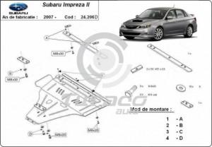 Scut motor metalic Subaru Impreza, motorizare diesel