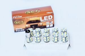 Set becuri LED P21/5W LED 12V 13x5050 BAY15d (10 BUC)