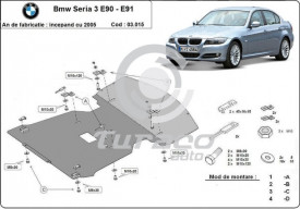 Scut motor metalic BMW Seria 3 E90 E91