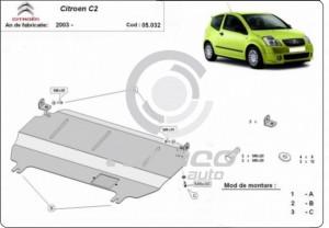 Scut motor metalic Citroen C2